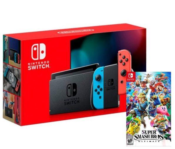 Nintendo Switch 2019 + Super Smash Bros. Ultimate