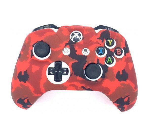 Защитный силиконовый чехол Camouflage Red для Геймпада XBox One