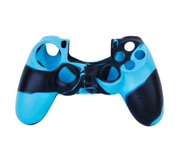Защитный силиконовый чехол Черно-синий для Геймпада PS4