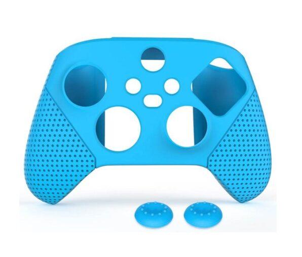 Защитный силиконовый чехол + Накладки Xbox Series (синий)